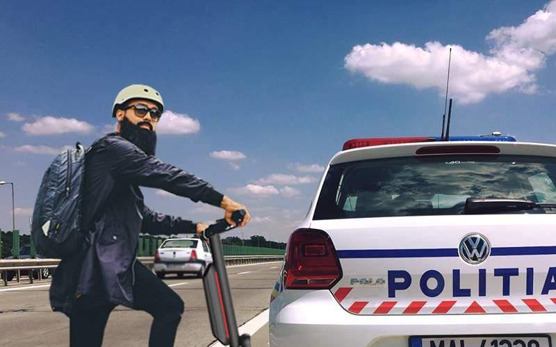 Fiul unui deputat USR, prins cu 200 km/h cu trotineta pe autostrada A2