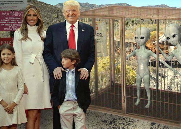Donald Trump şi-a dus copiii în weekend în Area 51, să vadă extratereştrii