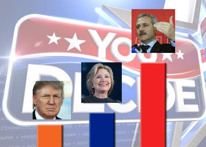 Prognoză sumbră pentru alegerile din SUA! Indiferent că iese Trump sau Hillary, la noi câştigă PSD-ul