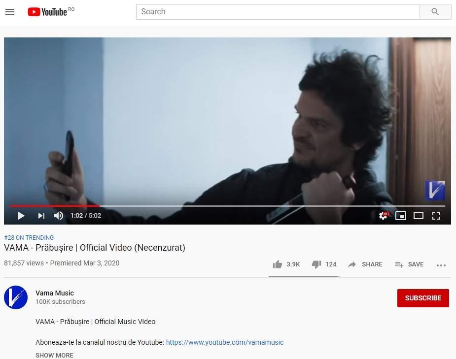 Compania americană Youtube spune că nu e de la ei, așa cântă Tudor Chirilă de obicei