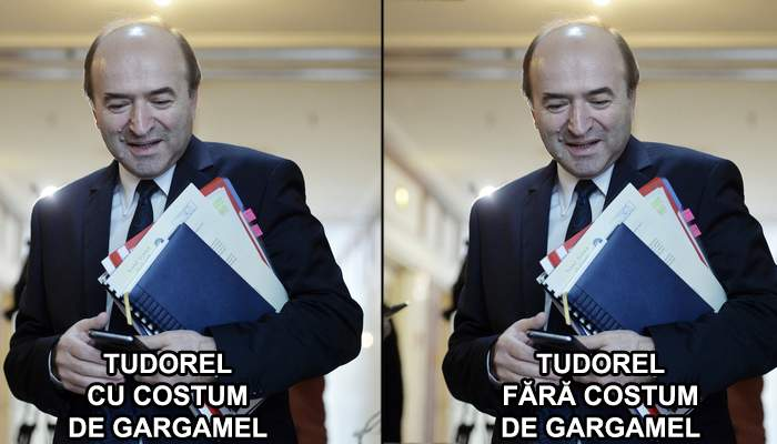 Risipă de bani la Ministerul Justiţiei. Tudorel Toader a comandat un costum de Gargamel, deşi arată identic