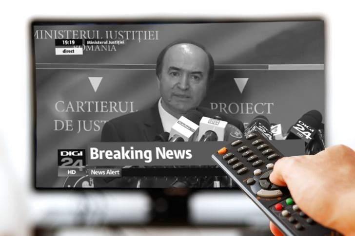Discursul lui Tudorel a fost atât de comunist, că românilor li s-au făcut televizoarele alb-negru
