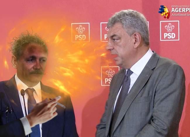 Explozie la PSD! Dragnea şi-a aprins o ţigară în timp ce vorbea Tudose în direcţia lui