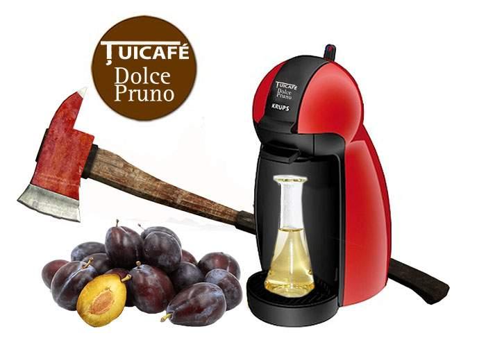 S-a lansat Ţuicafe Dolcepruno, aparatul în care bagi două prune şi iese cinzeaca
