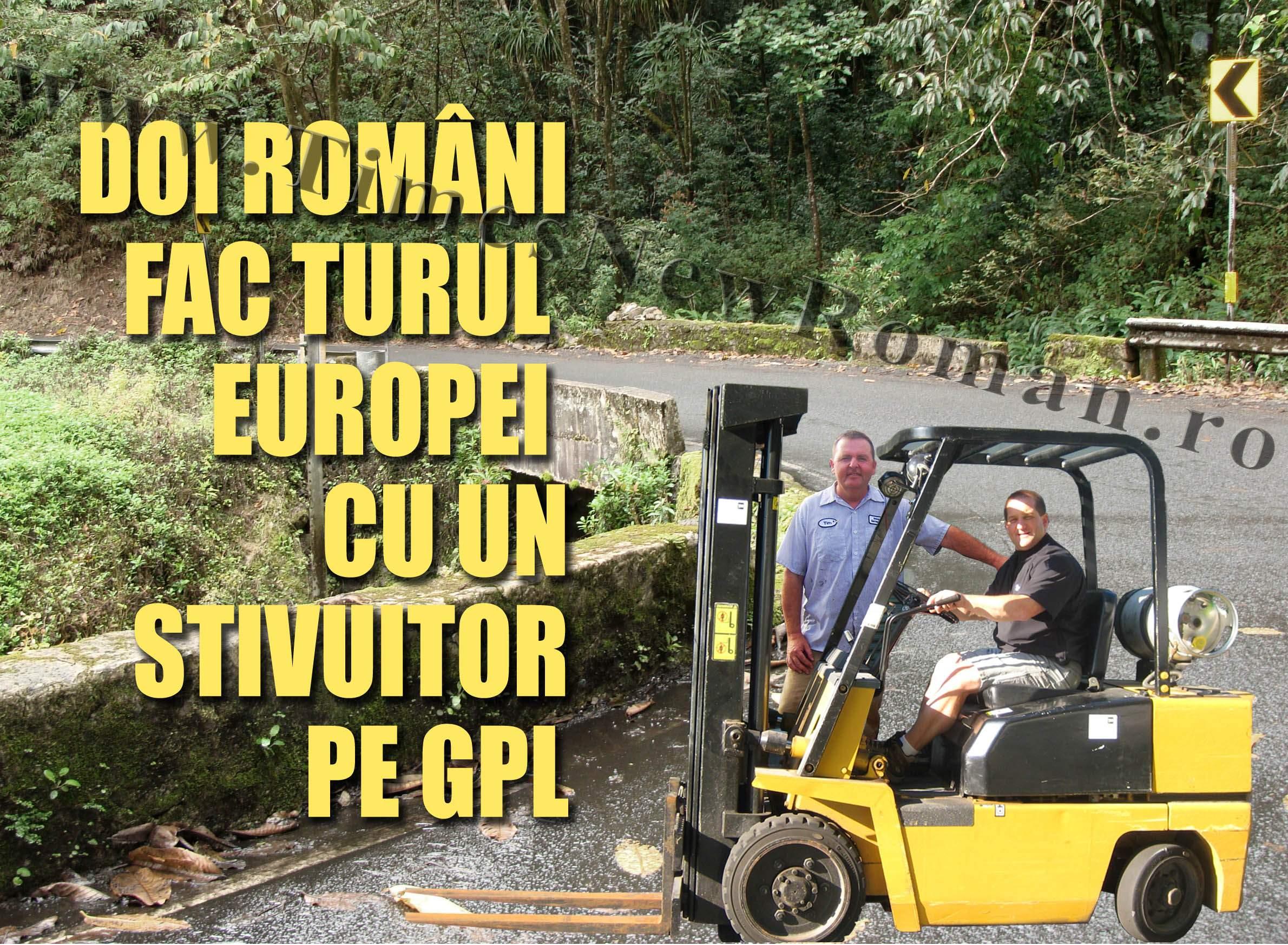 Doi români au făcut înconjurul Europei cu un motostivuitor
