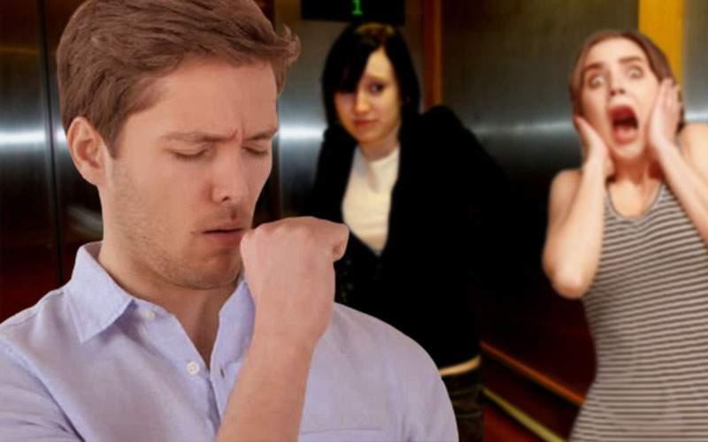 În lifturi lumea se uită mai urât la cei care tușesc decât la cei care se bășesc