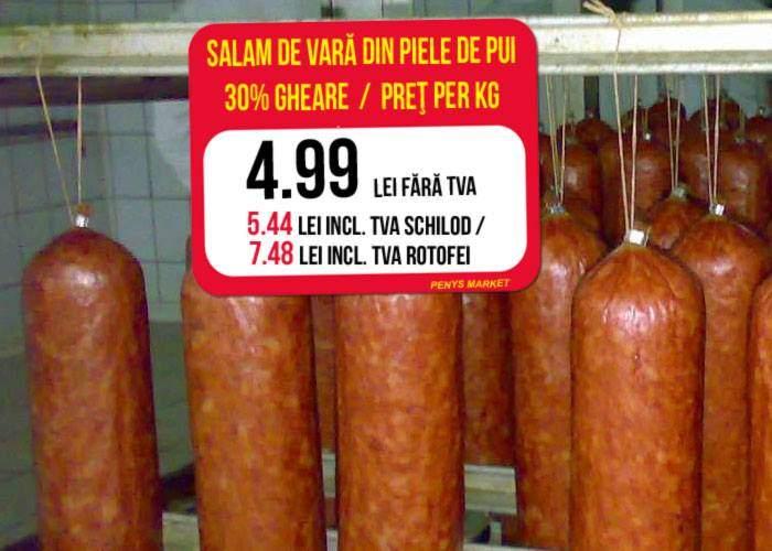 TVA de 9% pentru alimente dar nu pentru toți! Pentru grași, TVA-ul crește până la 50%