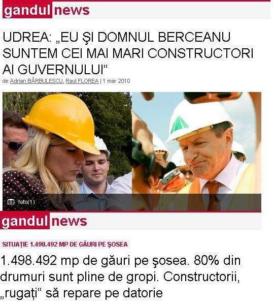 Elena Udrea are o problemă cu găurile lui Berceanu