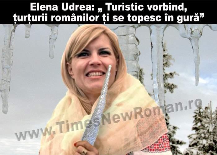 """Elena Udrea: """"E păcat să nu profităm de țurțuri, acum cât sunt mari și groși """""""