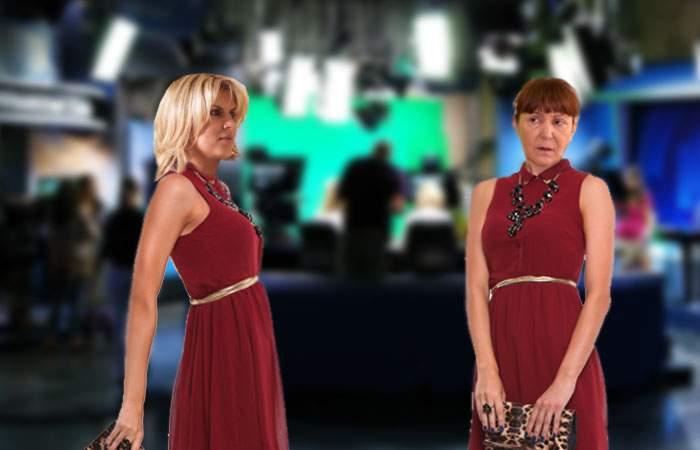 Macovei şi Udrea s-au păruit la un talk-show, după ce au venit îmbrăcate în aceeaşi rochie