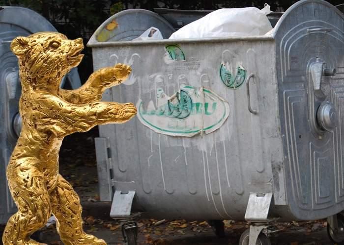 Mai mulţi locuitori din Braşov se plâng că Ursul de Aur le umblă prin tomberoane