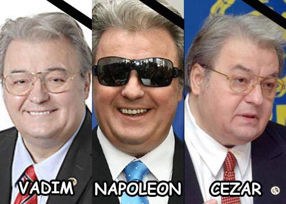 Doliu național în România, Franța și Italia, după decesul lui Vadim, Napoleon și Cezar