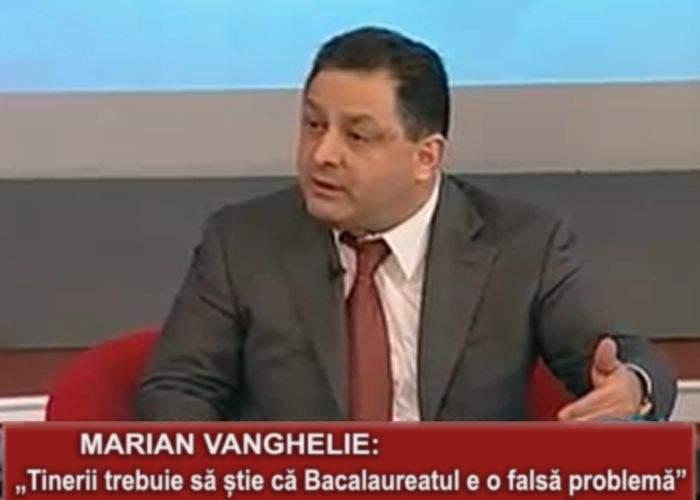 Marian Vanghelie, foarte îngrijorat de amploarea pe care a luat-o Bacalaureatul