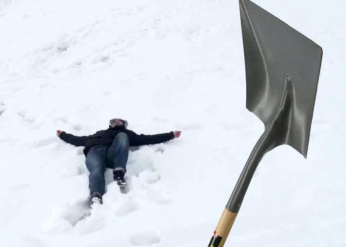 Credeai că nu folosesc lopeţile pentru zăpadă primite de la stat? Vasluienii deja îşi dau în cap cu ele