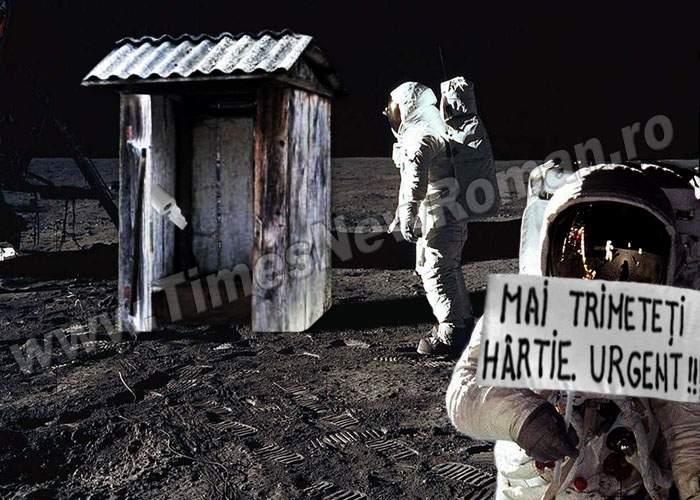 Astronauţii vasluieni au săpat un WC pe Lună