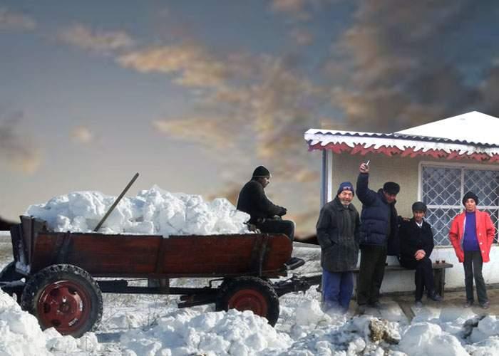 Topirea zăpezii i-a mobilizat exemplar! Vasluienii se înzăpezesc la loc în cârciumi
