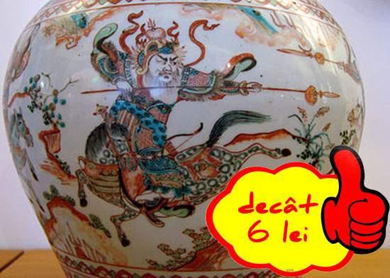 O vază Ming din secolul 14 s-a vândut cu 6 lei fiindcă nimeni nu mai vrea marfă din China