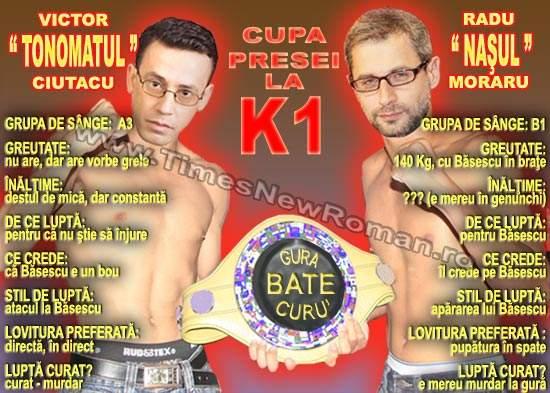 A început Cupa Presei la K1. Primul meci: V. Ciutacu vs. R. Moraru