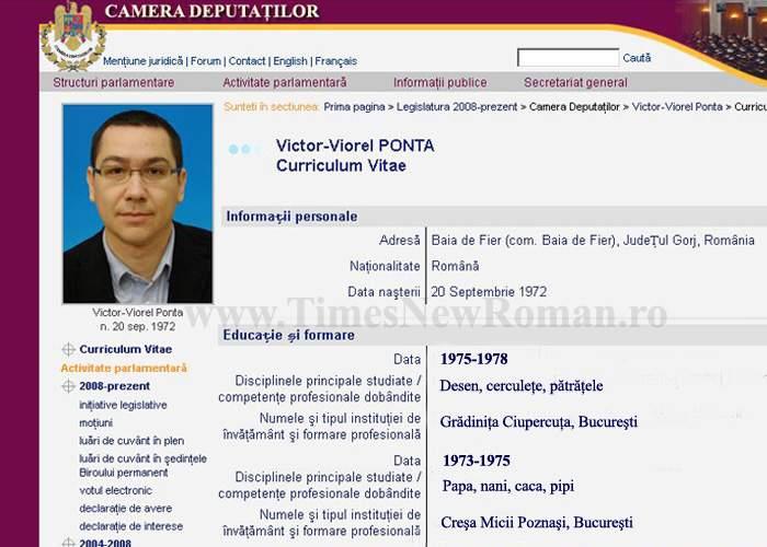 S-a descoperit singura diplomă de studii pe bune a lui Ponta: cea de grădiniţă