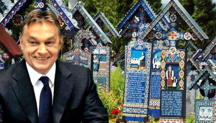 """Viktor Orban, vizită la Săpânţa: """"Pentru mine, orice cimitir românesc e un cimitir vesel!"""""""