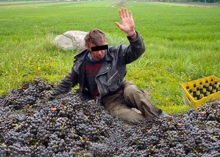 Mii de vasluieni încă produc vinul după metoda tradiţională: se îmbată până cad pe struguri şi îi strivesc