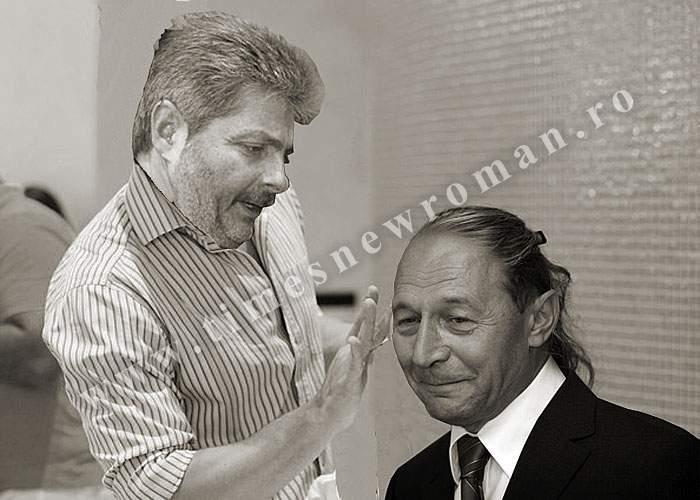 Imagine de arhivă: Vântu, surprins în timp ce se juca în pletele lui Băsescu