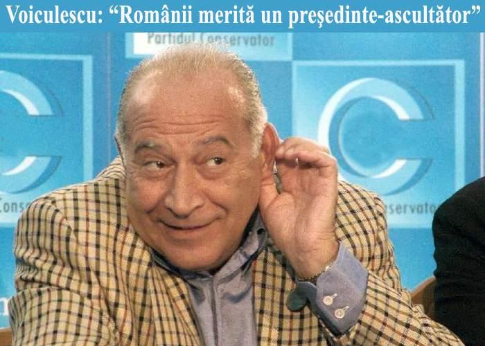 Voiculescu vrea să-l demită pe Băsescu pentru că ţara asta e prea mică pentru doi securişti