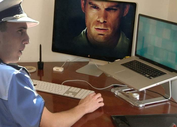 Poliţiştii amână închiderea vplay.ro pentru că nu au văzut serialul Dexter până la capăt