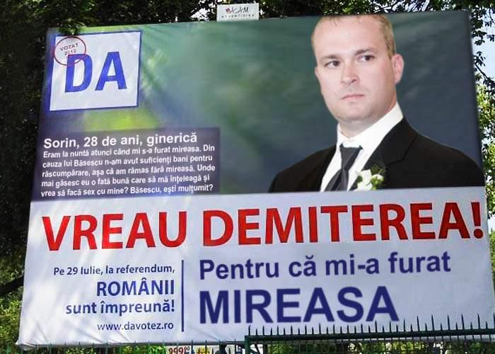 Băsescu, acuzat de trafic de persoane într-un panou electoral USL