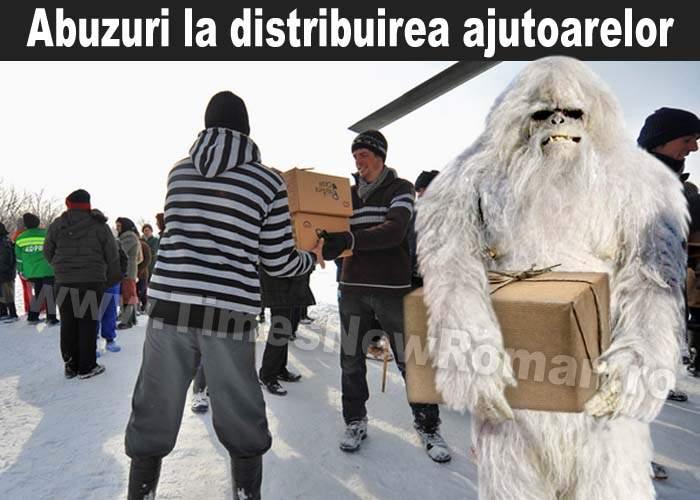 Poza zilei: Yeti, bănuit că fură din ajutoarele pentru sinistraţi