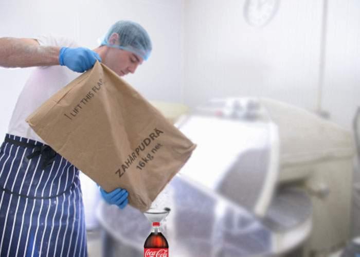 Ingenios! Un român a trecut granița cu 3 saci de zahăr ascunși într-o sticlă de cola de 0,5 litri