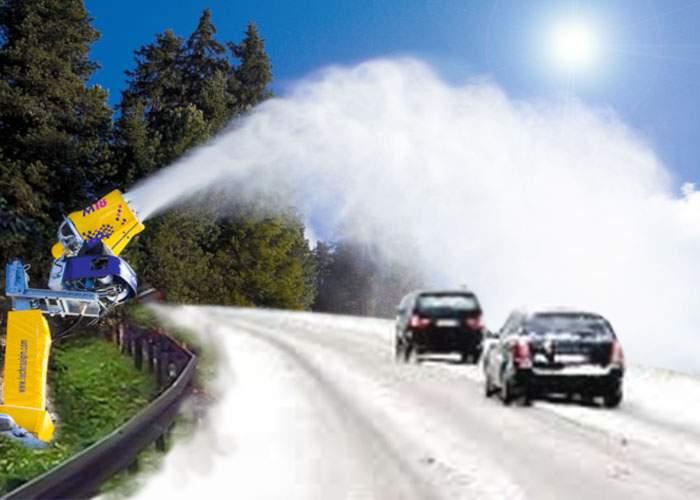 În caz că va fi totuşi o iarnă blândă, Guvernul dotează şoselele cu instalaţii de zăpadă artificială