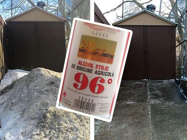 Deszăpezire ingenioasă! Un primar din Vaslui a stropit zăpada cu alcool şi sătenii au topit-o imediat