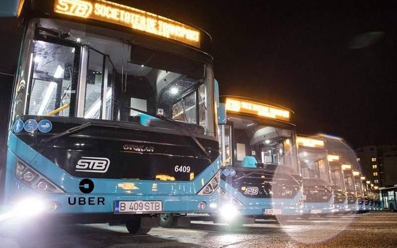 Un șofer STB și-a băgat autobuzul pe Uber și la 23:00 a luat 200 de clienți o dată