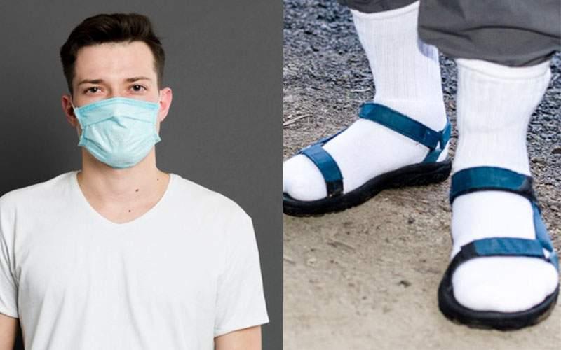 Românii au de ales. Ori mască pe față, ori ciorapi la sandale!