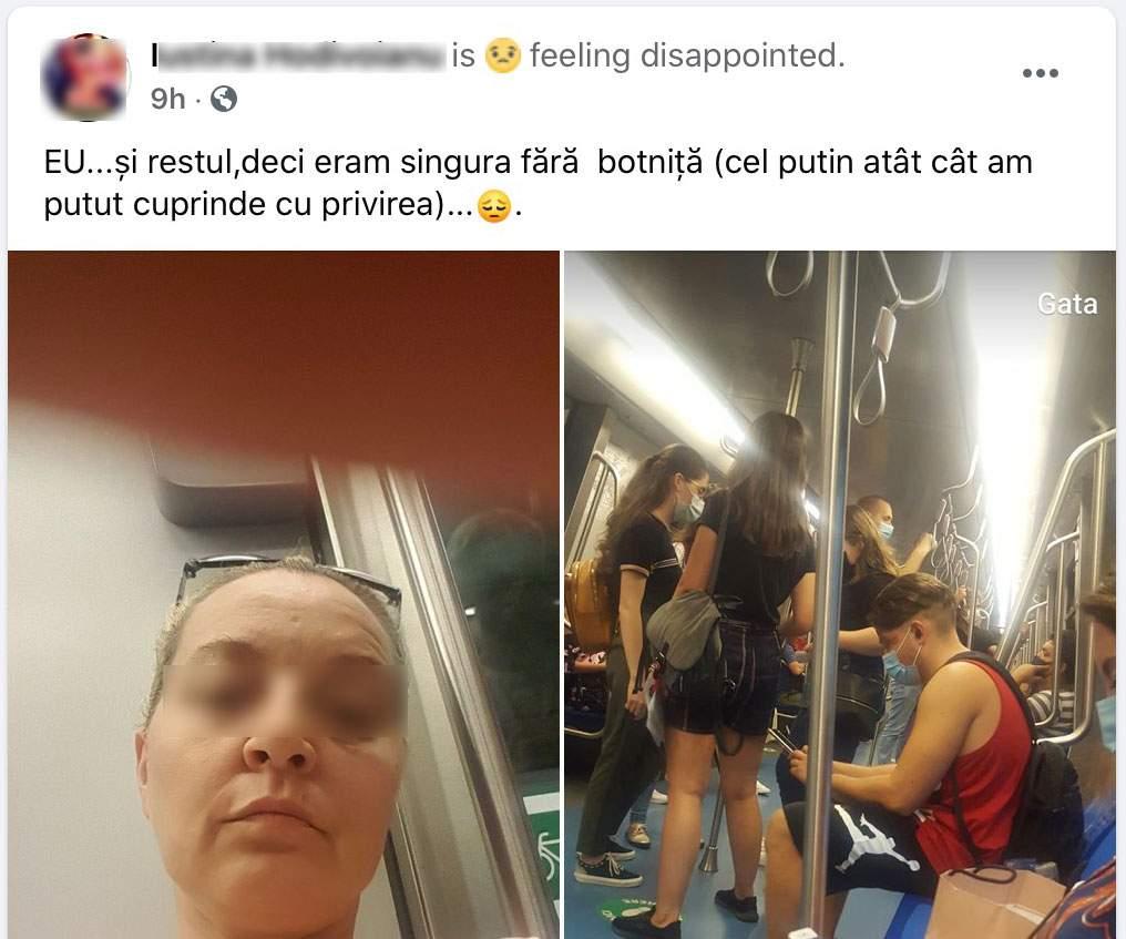 Studiu. O femeie rezistă 2 minute cu masca la metrou, dar 14 ore în mall!
