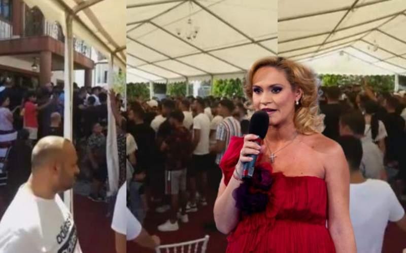 Disperată după voturi, Gabi Firea a cântat și ea o melodie la priveghiul lui Emi Pian