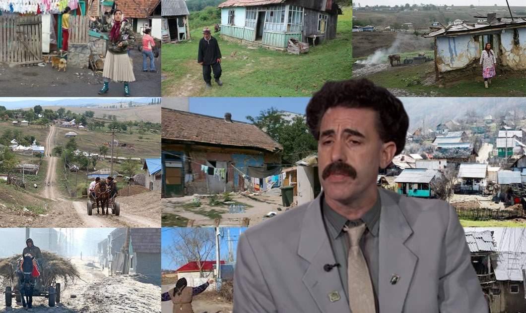 Borat şi-a uitat cheile la filmări şi nu mai ştie unde, că toate satele arată la fel