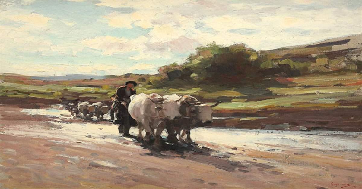 """A fost găsit celebrul tablou de Grigorescu, """"Car cu boule şi cu mă-ta care te-a făcut"""""""