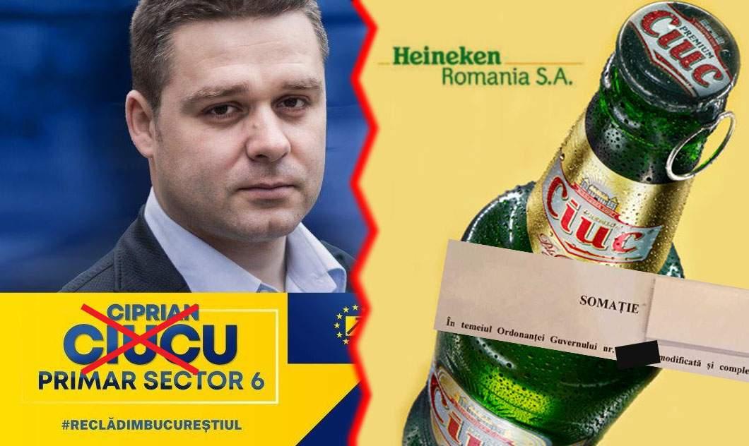 Validarea lui Ciucu ca primar, blocată în instanţă de Heineken România