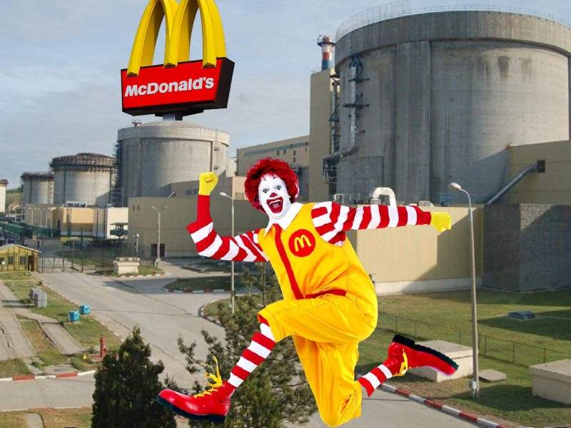 SUA se implică la Cernavodă. În reactorul 3 va fi deschis un McDonald's