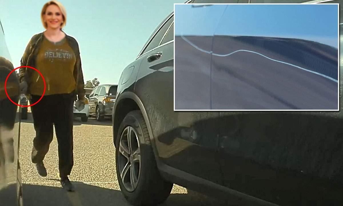 O panaramă neidentificată i-a zgâriat mașina lui Nicușor când depunea jurământul