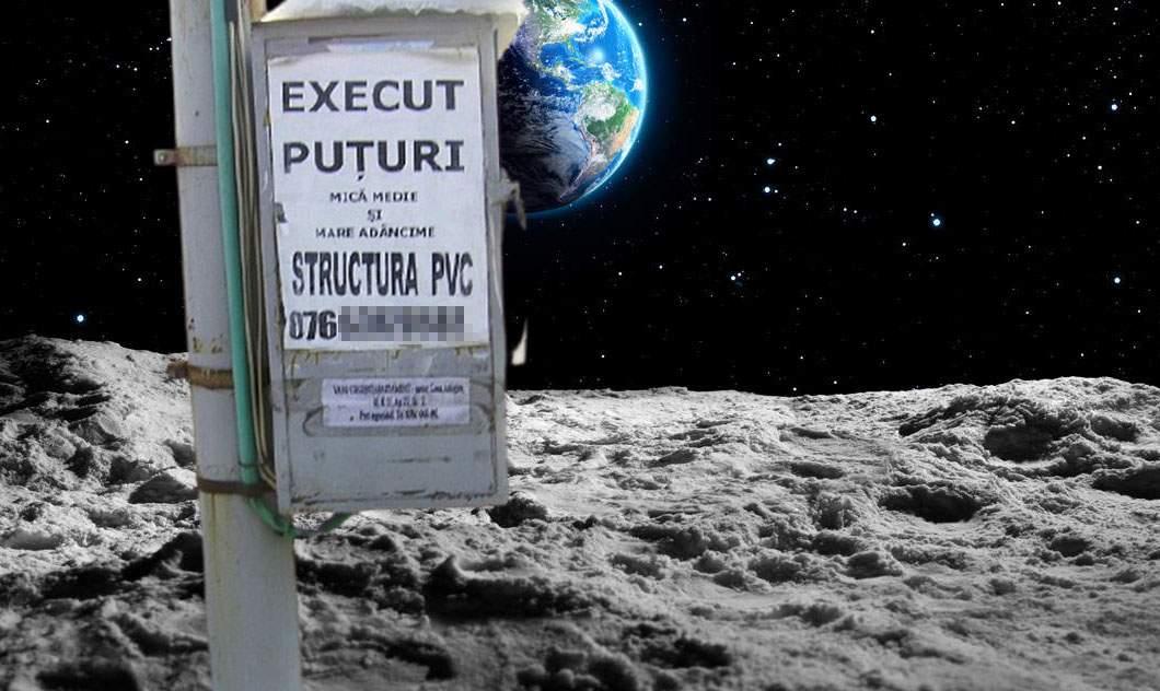 """Luna, împânzită de afişe cu """"Execut puţuri"""" după ce NASA a găsit apă acolo"""