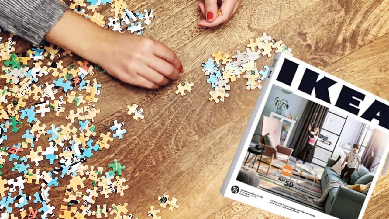 Noul catalog Ikea vine sub formă de puzzle, să ți-l faci singur acasă