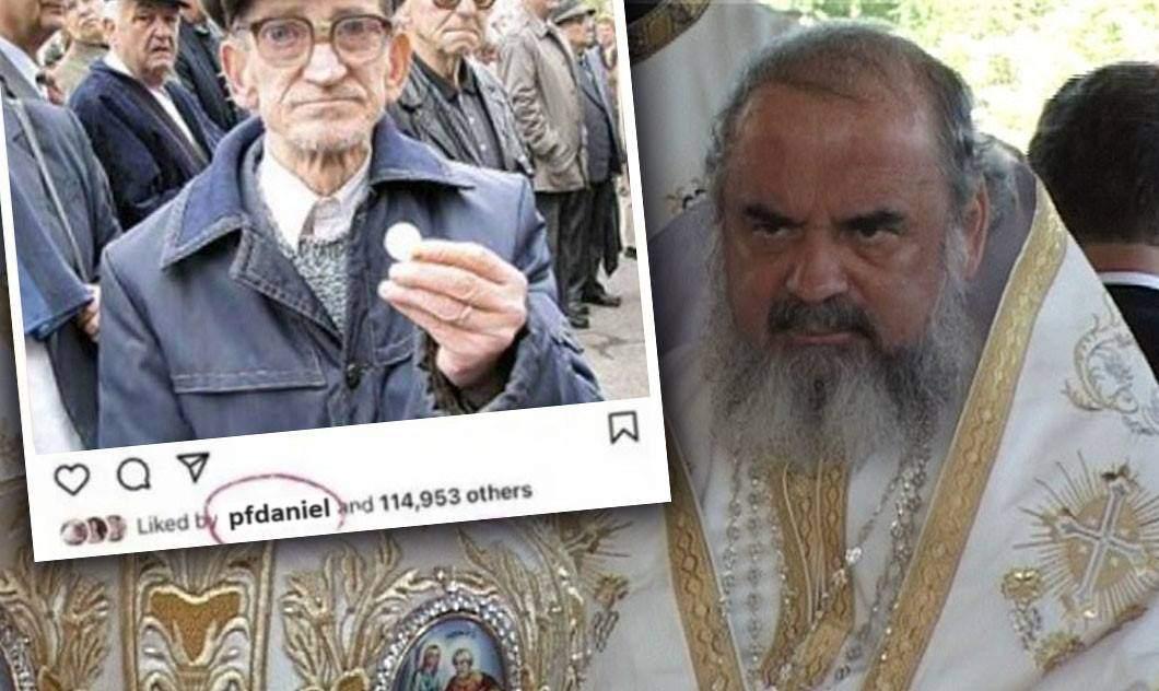 Scandal la BOR după ce Instagramul Patriarhului a dat like unui sărac