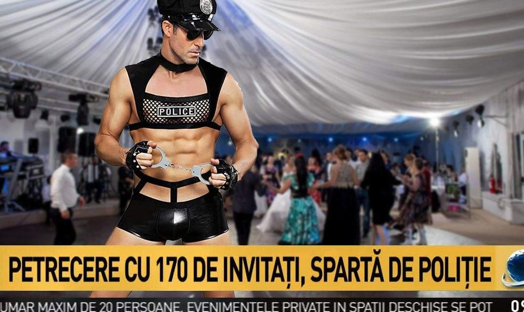 Oficial! Şi stripperii costumaţi în poliţişti vor putea da amenzi la petreceri