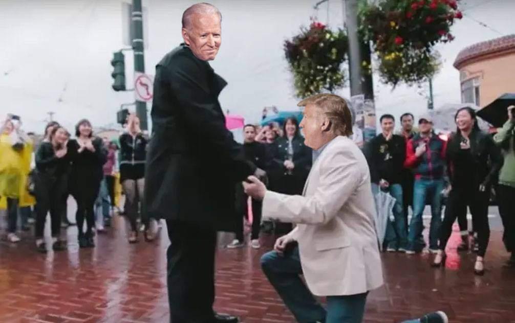 Ca să rămână la Casa Albă, Trump a divorțat de Melania și l-a cerut pe Biden de soț