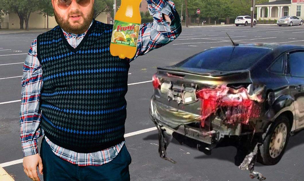 Daună totală! Victoraș Micula și-a distrus mașina după ce a spălat-o cu Frutti Fresh