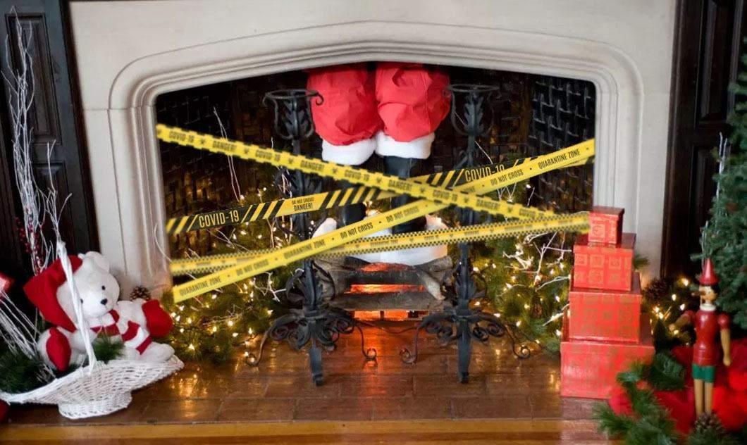 Moș Crăciun, obligat să stea 14 zile în carantină în sobă după Crăciun