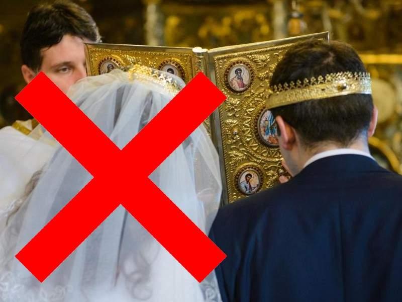 Noi restricții. La nuntă au voie maxim două persoane: un mire și preotul!